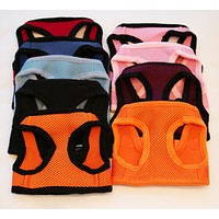 Dog Harness, Casual Canine Mesh Harnesses, Black, Blue, Orange, Purple, Pink or Red