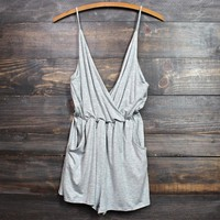 perfect summer romper in heather grey