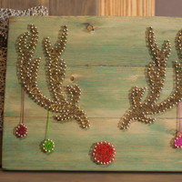 Christmas decoration Rudolph the reindeer string art, modern wall decor for your home, great gift for your loved ones