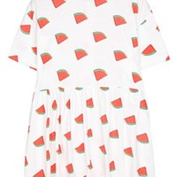 Watermelon Print A-line Dress