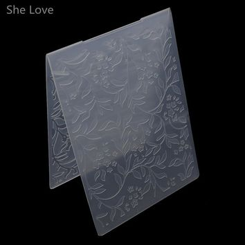She Love Scrapbooking Embossing Folder Tree Branch Plastic Template DIY Papercraft Card Making Decoration
