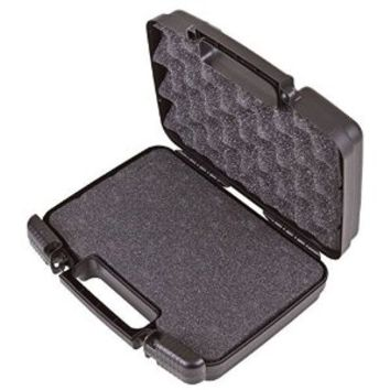 "Lockable DISCREET n SECURE 11"" Travel Hard Case for Pipes and Herb with Customizable Internal Foam Padding - Great for Storing Handheld Pipe / Spoon Pipe / Taster Pipe / Hammer Bubbler / Sherlock Pipe / Steamroller Pipe / Grinders, Herb Canisters, Bags and"