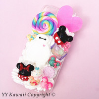 PREORDER -Big Hero 6 Baymax inspired Kawaii silicone Decoden phone case for IPhone 4S, iPhone 5 5s 5c 6 6 plus or Samsung Galaxy S5 and more
