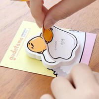 Kawaii post it papelaria stationery notes posted n times stickers sticky notes paper cute gudetama school stationary memo pad