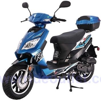 PRO TT Thunder 50cc 4 Stroke 50cc Gas Scooter with Disc Brake, Big 12inch wheels, LED Light (free rear cargo trunk)