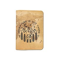 World Map [Name Customized] Leather Passport Holder - Passport Protector - Passport Cover - Passport Wallet_SUPERTRAMPshop
