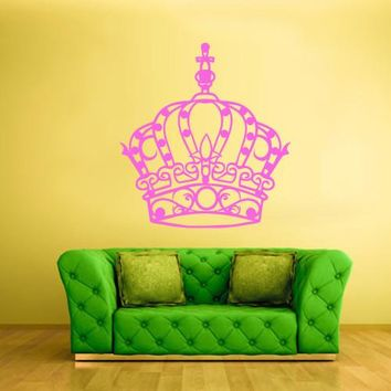 Wall Vinyl Decal Sticker Bedroom Decal Crown King Princess  z626