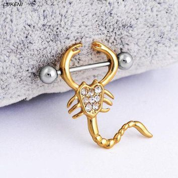 ac PEAPO2Q 1 Pcs/set Lovely Scorpion Rings Body Jewelry Women Piercing Stainless Steel Rings Piercing Jewelry Gifts