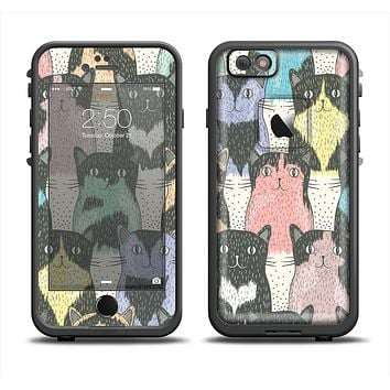 The Vintage Cat portrait Apple iPhone 6 LifeProof Fre Case Skin Set