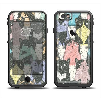 The Vintage Cat portrait Apple iPhone 6/6s LifeProof Fre Case Skin Set