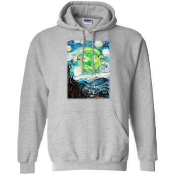 Fantastic Rick And Morty Starry Night Shirt G185 Gildan Pullover Hoodie 8 oz.