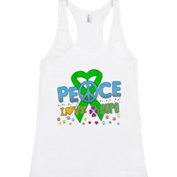 Bile Duct Cancer Groovy Peace Love Cure Shirts | Racerback Tank | SKREENED