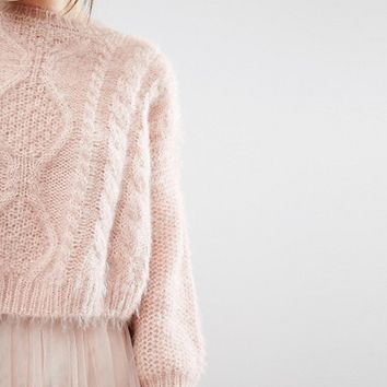 Willow and Paige Relaxed Cable Knit Sweater at asos.com