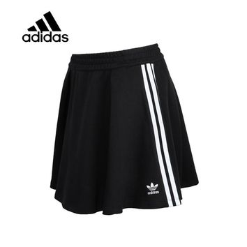 Original New Arrival Authentic Adidas Women Trainning Exercise Skirt Female Black Leisure Sportswear Breathable Quick Dry