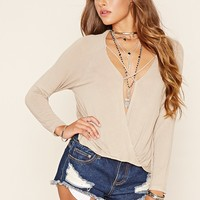Strappy Surplice Top