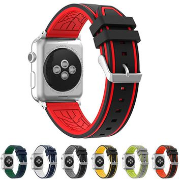 neway 2017 Rubber Strap Watchband For Apple Watch Iwatch band 38mm 42mm series 1 & 2 Silicone Sport Wristband Replacement belt