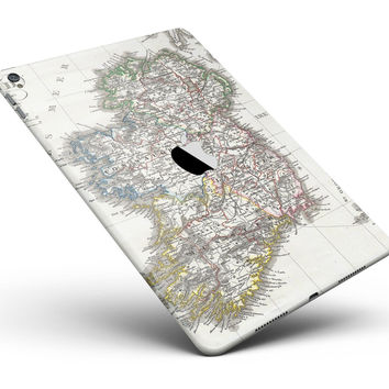 """The Vintage Ireland Map Full Body Skin for the iPad Pro (12.9"""" or 9.7"""" available)"""