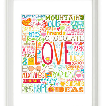 50 Reasons To Be Happy 16x20 inches on A2 Deluxe by theloveshop