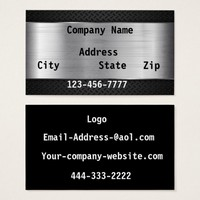 Silver and Black Business Card