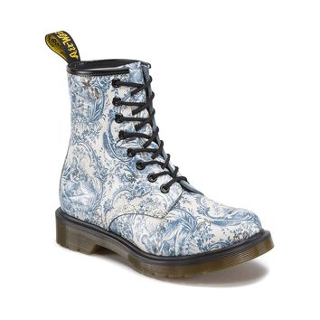 Womens Dr. Martens Vandalised 1460 Boot, Blue white | Journeys Shoes
