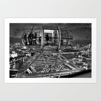 The London Eye at Night Art Print by Alice Gosling