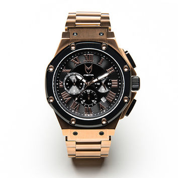 Meister Ambassador AM139SS Rose Gold/Black Stainless Steel Watch