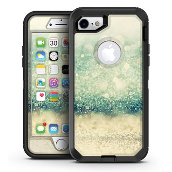 Teal and Gold Unfocused Orbs of Light - iPhone 7 or 7 Plus OtterBox Defender Case Skin Decal Kit