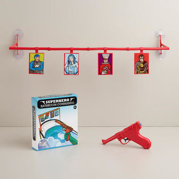 Superhero Bathroom Commando Bath Game