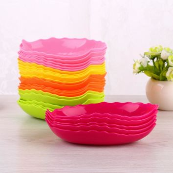 5 Pieces/Lot Kitchen Bowl kit Tool Small Dishes Leaf shape Snack Fruit Candy Spice For Tomato Salt Vinegar Sugar Flavor Spices