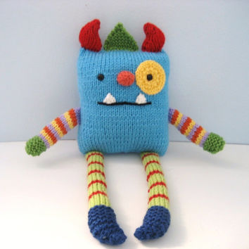 Amigurumi Pattern Knit Monster Digital Download