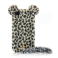 Leopard iPhone 4 / 4s Case with Panther Tail