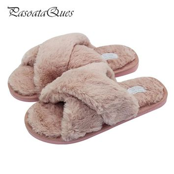 Winter Autumn Flock Women Home Shoes Comfortable Indoor House Women Slippers Flats Pasoataques Brand 133