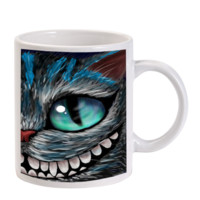 Gift Mugs | Cheshire Cat Alice Ceramic Coffee Mugs
