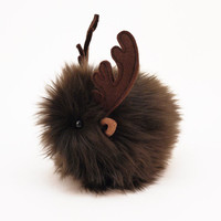 Randy Reindeer Stuffed Animal Plush Christmas Holiday Toy Stocking Stuffer- 4x5 Inches Small Toy Size