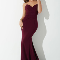 Plum Strapless Prom Dress 25631