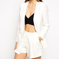 Lavish Alice Longline Tailored Blazer - White