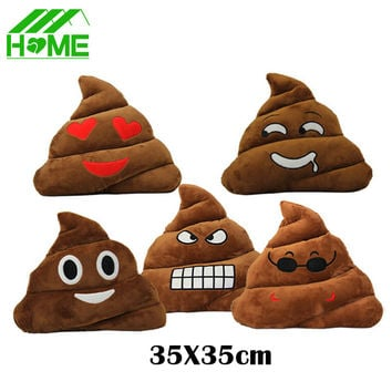 2 Seat New Massager Almofada Present Cushion Poo Sleeping Toy Pillows Smiley Face Emoticon Emoji Cojines Plush Poop Cushions
