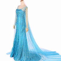 Queen Elsa Adult Women Dress Costume Cosplay