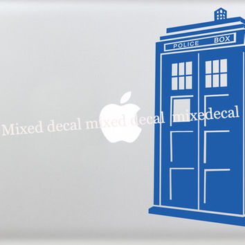 decal macbook decals stickers macbook decal Doctor Who Decal - Tardis macbook air decal apple sticker mac decals mac laptop stickers