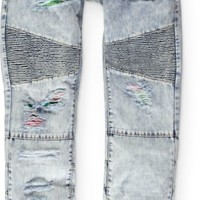 LRG Rip And Repair Light Acid Wash Regular Fit Jeans