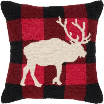 Holiday Elk Pillow