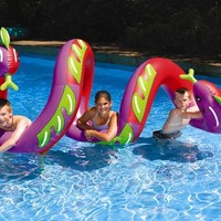 Swimline Two Headed Curly Serpent Pool Float