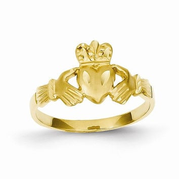 Womens 14kt D.C yellow gold claddagh ring