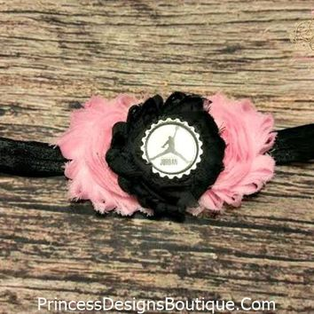 Michael Jordan Light Pink and Black Headband!