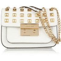 MICHAEL Michael Kors | Sloan studded leather shoulder bag | NET-A-PORTER.COM