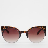 Jeepers Peepers Cat Eye Clubmaster Sunglasses