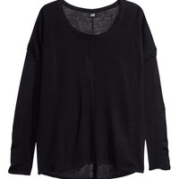 Fine-knit oversized jumper - from H&M