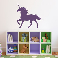 Unicorn Wall Decal - Girl Bedroom Wall Art - Fairy Tale Decal - Children Wall Decals