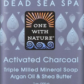 One With Nature Dead Sea Spa Mineral Soap Activated Charcoal - 7 oz