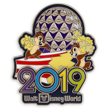 Disney Parks 2019 WDW Chip 'n Dale Pin New with Card